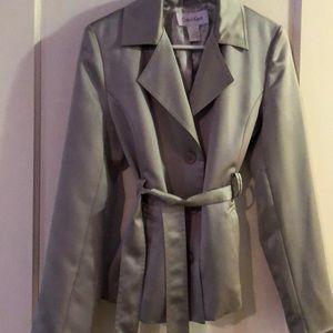 Calvin Klein Jacket Silver Color